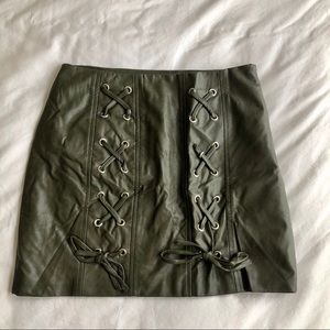 LF lace up skirt